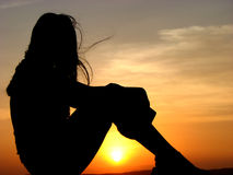 Sun Knees Stock Image