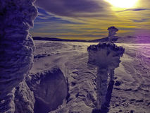 Sun in Krkonose mountains Royalty Free Stock Photo