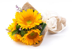 Sun kwiatu bukiet Zdjęcie Stock