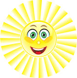Sun, Lächeln. Symbol. Stockbild