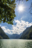 Sun Lake Koenigssee Royalty Free Stock Image