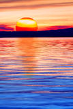 Sun lake and mountains Stock Photos