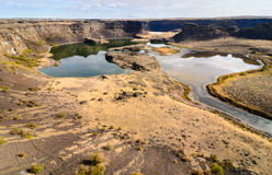 Sun Lakes-Dry Falls State Park. Winding River Royalty Free Stock Images