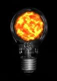 Sun in lamp. Royalty Free Stock Image