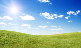 Sun landscape Royalty Free Stock Photo