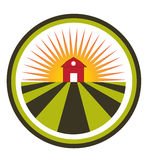 Sun-Landwirtschaftslandschaftsdichtung Stockbild