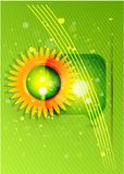 Sun with leaves. Nature concept Royalty Free Stock Images