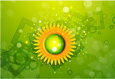 Sun with leaves. Nature concept Stock Photography