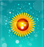 Sun with leaves. Nature concept Stock Photos