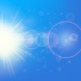 Sun with lens flare template Stock Image