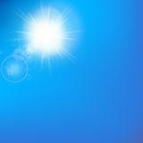 Sun with lens flare template Stock Photos
