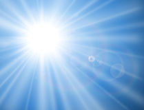 Sun with lens flare Stock Photos