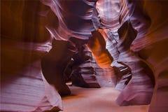 Sun-Leuchte durch obere Antilopen-Schlucht Lizenzfreies Stockfoto