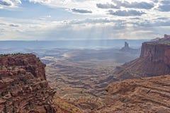 The Sun-Licht van het Nationale Park van Canyonlands Stock Foto's