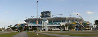Sun Life Stadium - Miami Florida. Sun Life Stadium, also known as Dolphin Stadium, is home to both the Miami Dolphins (NFL) and Miami Hurricanes (NCAA) football stock image