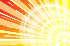 Sun light. Colored background with white, yellow and red Royalty Free Stock Image