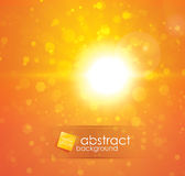 Sun light. Orange sun light abstract vector background with particles Stock Photo
