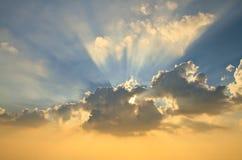 Sun light. Beautiful sun light through the fluffy clouds Stock Images