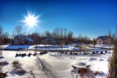 Sun light. A beautiful sunny day during winter in michigan Royalty Free Stock Images