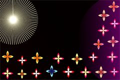 Sun light and background flower multi color vector. This background is uses for phone wallpaper screen cover banners and book laptop wallpaper cover printing and Stock Photography