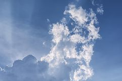 White clouds sunlight beams vietnam Royalty Free Stock Photos