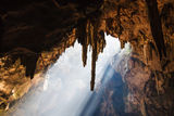 Sun Light in the cave Stock Photos