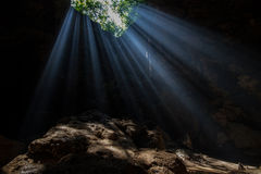Sun Light in the cave royalty free stock images