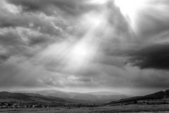 Sun Light on Down town Stock Image