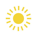Sun light glow. Icon vector illustration graphic design Royalty Free Stock Photo
