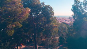 Sun light park guell sagrada familia torre agbar view 4k time lapse spain. Spain sun light park guell sagrada familia torre agbar view 4k time lapse stock video