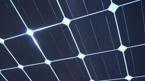 Sun light shine through solar cell roof stock video