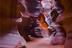 Sun light through Upper Antelope Canyon Royalty Free Stock Photo