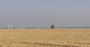 Sun light valencia beach of mediterranean sea 4k spain. Spain sun light valencia beach of mediterranean sea 4k stock video