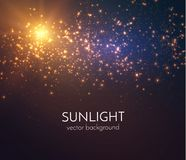 Sun light vector background. EPS10 Stock Photo