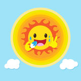Sun like eat ice cream Royalty Free Stock Photography