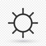Sun line icon. Line icons with flat design elements on white bac stock illustration