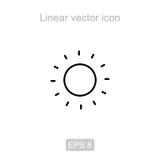 The sun. Linear vector icon. Stock Image