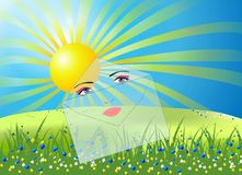 Sun lists Royalty Free Stock Image