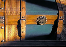 Sun Lit Chest. Nostalgic sun lit trunk stock images