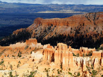 Sun Lit Hoodoos in Bryce Canyon Utah Royalty Free Stock Image