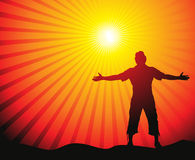 Sun lite background Stock Photos