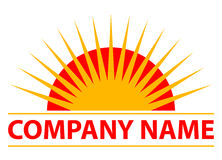 Sun logo. Vector illustration of sun logo Royalty Free Stock Image