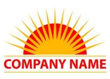 Sun logo. Vector illustration of sun logo Royalty Free Illustration