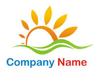 Sun logo. Sunny and glossy nice logo for a tourism or travel company Stock Photography
