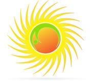 Sun logo. Illustration of sun logo design  on white background Royalty Free Stock Image
