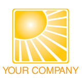 Sun logo Royalty Free Stock Photography