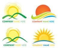Sun logo Fotografering för Bildbyråer