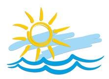 Sun-Logo Lizenzfreie Stockbilder