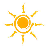 Sun logo. Cute sun company logo illustration / clipart isolate on white background