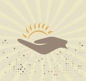 Sun logo. Abstract sun logo.Vector illustration Royalty Free Stock Photos